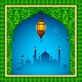picture of eid ka chand mubarak  - easy to edit vector illustration of Eid Mubarak  - JPG