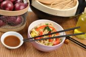 Scrimp Egg Noodle With Organic Stir Fry
