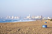 View Of Durban's City Skyline From La Lucia Beach
