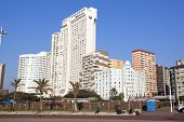 View Of Towering Hotels On Durban Beachfront