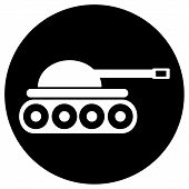 stock photo of panzer  - Panzer icon on white background - JPG