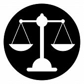 image of magistrate  - Scale icon on white background - JPG