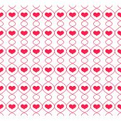 Pattern with repeating hearts