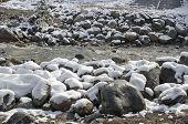 Kyrgynga river (in Buryat - Drum) in the village of Arshan