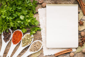 stock photo of recipe card  - Menu background - JPG