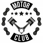 Vintage Motor Club Signs and Label