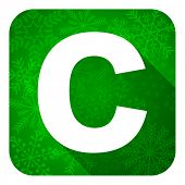 copyright flat icon, christmas button