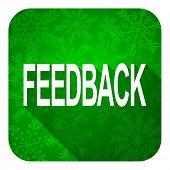 feedback flat icon, christmas button