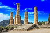 Temple Of Apollo In Delphi, Greece