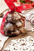 pic of desert christmas  - Closeup of melty Chocolate  - JPG