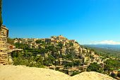 Gordes Medieval Village On Rock Hill. Luberon, Provence, France.