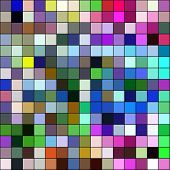 Colorful mosaic square tiles illustration abstract background.