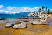 Rocky shore at Lake Tahoe