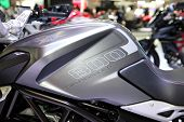 Bangkok - November 28: Fuel Tank Of Agusta Dragster 800 Motorcycle On Display At The Motor Expo 2014