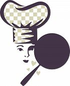 Love Chef Woman Checkered Hat...