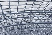 Metal Structures On The Roof Of The Shopping Complex Background