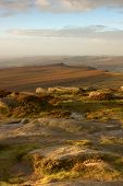 Early Morning On Hathersage Moor In The Derbyshire Peak District