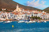 Mediterranean Quay Of Cadaques Old Village