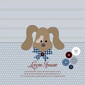 Greeting card with sweet dog