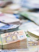 Euro Banknotes (close-up Shot)