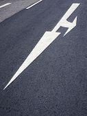 Arrow Traffic Sign On Road