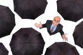 Businessman With Umbrellas
