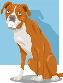 picture of spotted dog  - Cartoon Illustration of Funny Purebred Boxer Dog - JPG