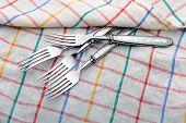 Forks On A Dishcloth