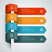 picture of arrow  - Modern minimal arrow infographics elements - JPG