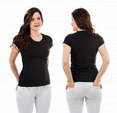 Pretty Brunette With Blank Black Shirt