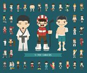 picture of judo  - Set of 43 Sport characters eps10 vector format - JPG
