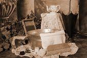 Victorian Washtub Setting