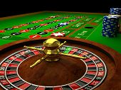 stock photo of roulette table  - Casino Roulette on table - JPG