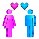 Man and woman love concept