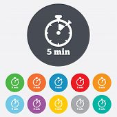 picture of stopwatch  - Timer sign icon - JPG