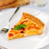A Slice Of Peach Custard Pie