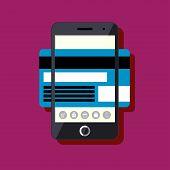 Flat design mobile payment concept