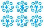 Money snowflakes