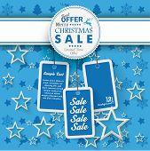 Emblem Blue Christmas Price Stickers Sale