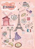 various attractions Paris France