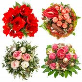 Flowers For Winter Holidays. Roses, Amaryllis, Protea