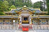 Rinno-ji Buddhist temple , Tayiu-in - mausoleum of Tokugawa Iemitsu, famous shogun in Nikko, Japan. This is UNESCO World Heritage Site.