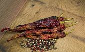 Dried Chili Peppers and Pepper Corns