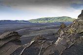 Bleak, Rugged,lava Landscape, Iceland