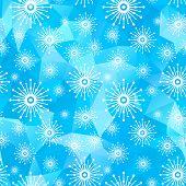 seamless snow blue background
