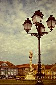Old Photo With Union Square In Timisoara