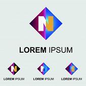 Постер, плакат: Letter N logo
