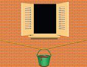 Bucket Of Paint Under The Window