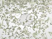 Clock And Falling Dollars
