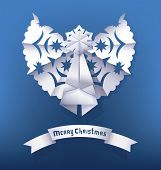 Paper angel Christmas Greeting